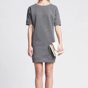 Banana Republic • Gray Quilted Midi Shift Dress